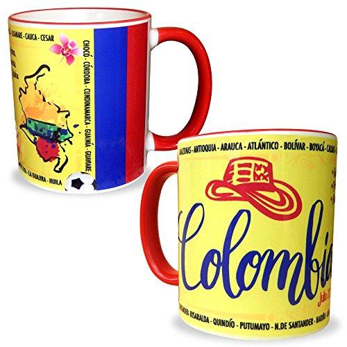 (Gio Gifts Colombia Mug Souvenir Coffee/Tea Cup Mug 11 Oz. Collectible Gift )