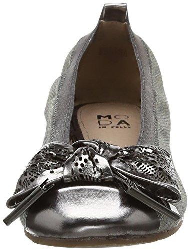Felisa Femme Ballerines Pelle Moda Pewter Silver in q4vSEwxH