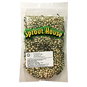 The Sprout House Certified Organic Sprouting Seeds Rainbow Bean Mix Garbanzo, Lentil, Green Pea, 1 lb