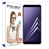 CELLBELL Samsung Galaxy A8 + plus (2018) Tempered Glass Screen Protector With FREE Installation Kit