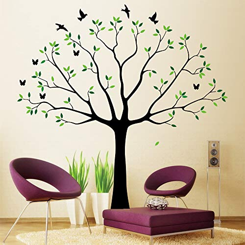 Family Wall Decal~Family Tree Wall Decal Stickers Living Room Home Decal Bed Baby Room Wall Decals, Memory Tree and Birds,Wall Stickers (Wall Tree Birds Decals And)