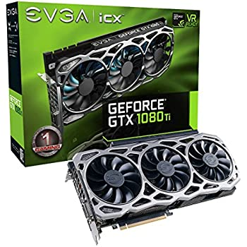 EVGA GeForce GTX 1080 Ti FTW3 GAMING, 11GB GDDR5X, iCX Technology - 9 Thermal Sensors & RGB LED G/P/M, 3x Async Fan Control, Optimized Airflow Design Graphics Card 11G-P4-6696-KR