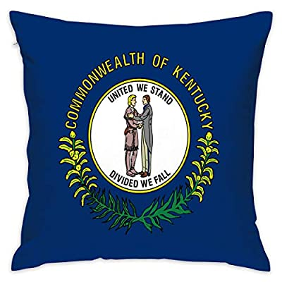 ZX-Y Throw Pillow Covers Kentucky State Flag Print 18 X 18 Bed Pillowcases Cushion Case - Premium,Ultra Soft