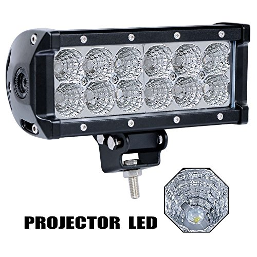"""Price comparison product image Yiguo 7.5"""" 36w Flood Light Bar Jeep Off Road Lights 12v Led Light Super Bright for Jeep Cabin Boat Suv Truck Car Atvs Lights"""
