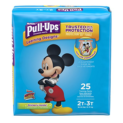 (Pull-Ups Learning Designs Potty Training Pants for Boys, 2T-3T (18-34 lb.), 25 Ct. (Packaging May Vary))