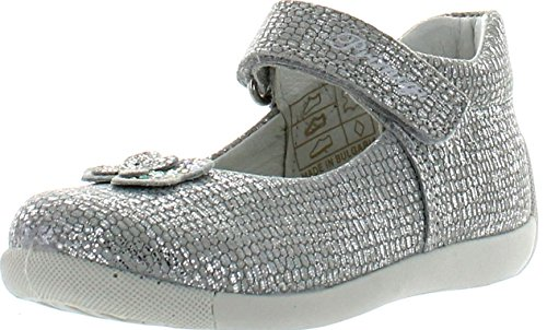 Primigi Girls Naty Cute Fashion Flats Shoes,Silver,24