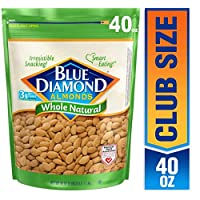 Deals on Blue Diamond Almonds, Raw Whole Natural, 40 Oz