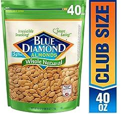 Blue Diamond Almonds, Raw Whole Natural,...