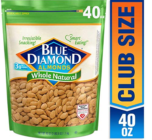 Blue Diamond Almonds, Raw Whole Natural, 40
