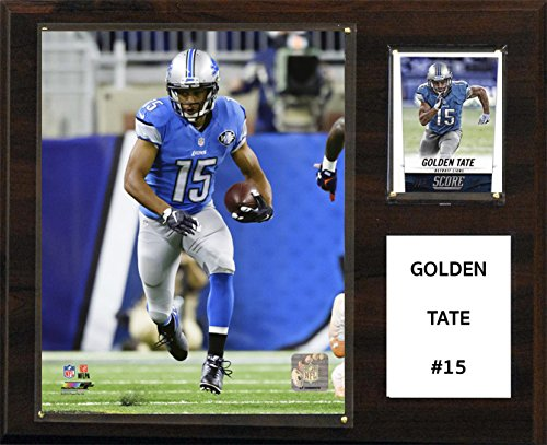 "C&I Collectables NFL Detroit Lions Golden Tate Player Plaque, 12""x15"""