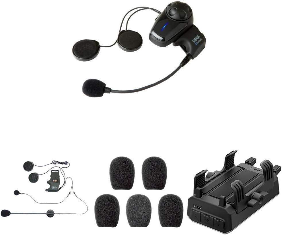 Sena Smh10 10 Bluetooth Headset Und Gegensprechanlage Smh A0302 Helmklemmenset Anbringbares Bügelmikrofon Sc A0109 Mikrofonaufsätze Powerpro 01 Powerpro Handlebar Auto