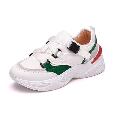 ee0d0fa2a4a Femme Chaussure de Sport Outdoor pour Course Jogging Running Fitness  Sneaker de Textile Respirant Chaussure Basket