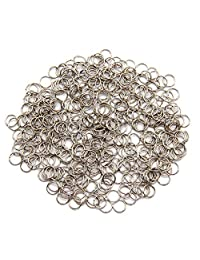 SUPVOX Open Ring DIY Jewelry Accessories Hoop Jump Rings Small Iron Hanging Ring Buckle 163PCS (Silver)