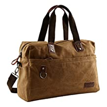 Gumstyle Medium Canvas Gym Bag Duffel Workout Sport Bag Travel Carry on Bag Athletic Coffee