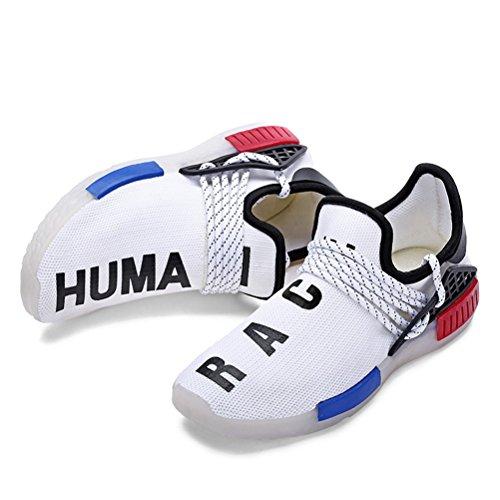 43 Pour Bout Automne Tricot Chaussures Femmes Extérieur Printemps Black 30 Up Confort Blanc Athlétique Casual Pointu Noir Color Blanc Chaussures Marche Unisexe Sneakers Light Chaussures WS77nwx6
