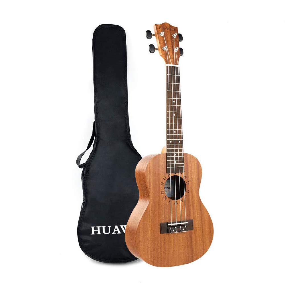 Concert Ukulele Mahogany 23 inch Starter Kit for Beginner Ukelele Uke Hawaiian Ukulele Small Guitar for Kids Adults Beginners Students Children by HUAWIND