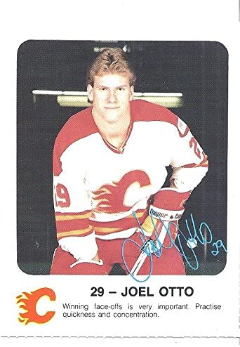 Joel Otto 1986 87 Calgary Flames Red Rooster Police Hockey Sga Rookie Card Rc At Amazon S Sports Collectibles Store