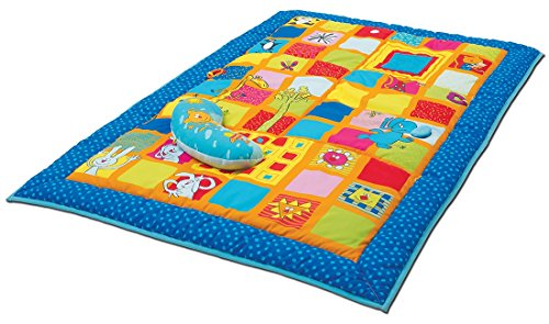 515be5QD2BL - Taf Toys Curiosity Activity Gym Tummy Time Play Mat | Neck & Shoulder Comfort, Removable Arches, Touch Musical Ball, Squeaker, Crinkles, Teethers, Butterfly, Easier Child Development & Parenting
