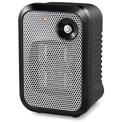 HOME_CHOICE 500 Watt Mini Personal Ceramic Space Heater Electric Portable Heater Quiet for Home Dorm Office Desktop with…