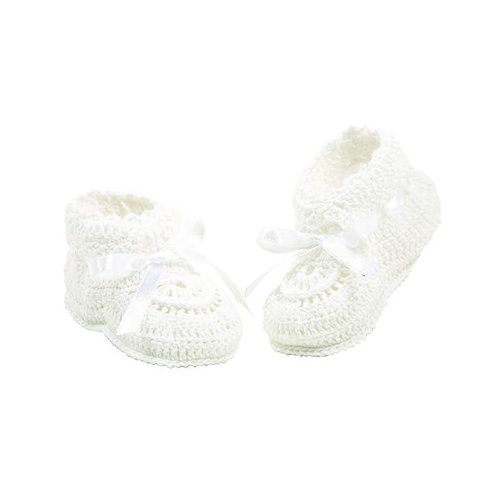 Baby Boy White//Ivory Christening Baptism Pram Wedding Shoes Booties   0-12Month