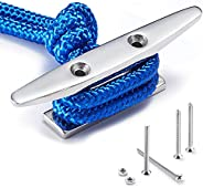 ZOMCHAIN Boat Cleat Open Base Boat Cleat, Dock Cleat All 316 Stainless Steel Boat Mooring Accessories, Include