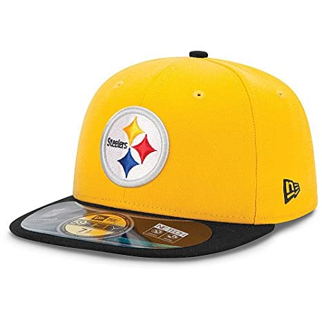 30c79b49 Men's New Era Pittsburgh Steelers On Field Classic 59FIFTY Football  Structured Fitted Hat 7 1/8