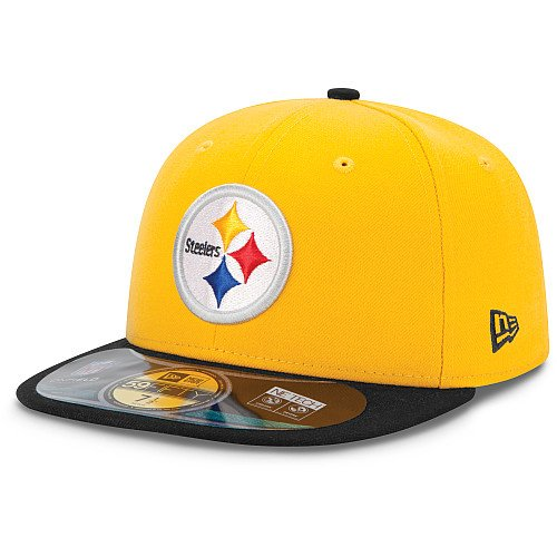 aa5522004eb Men s New Era Pittsburgh Steelers On Field Classic 59FIFTY  Football Structured  Fitted Hat 7 1 8