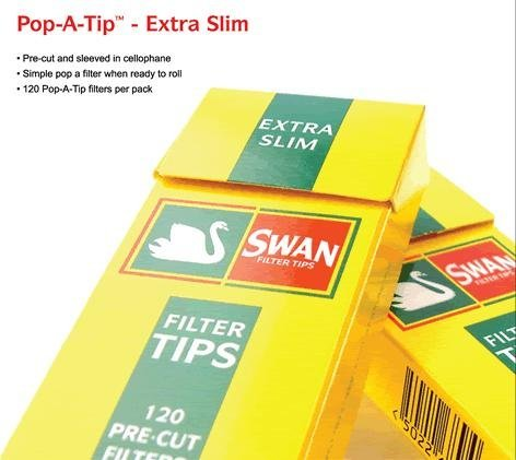Price comparison product image 4 Packets Swan Filter Tips (Pre Cut Filter Sticks) Extra Slim [Cigarette - To...