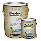 GlazeGuard Satin Floor Sealer Wall Sealer for Ceramic, Porcelain, Stone Tile Surfaces (1 Gal -Prof Grade (2) Part Kit