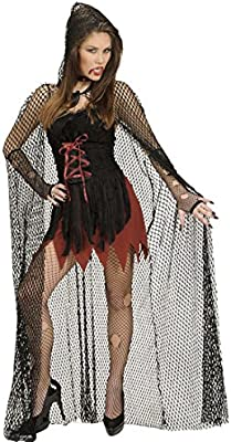 Amakando Capa de Red Halloween con Capucha Disfraz vampiresa 150 ...