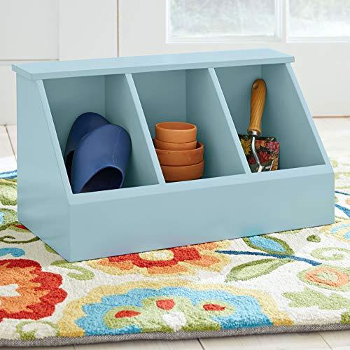 BrylaneHome Brooke 3-Cubby Storage - Light Blue