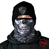 warm freeze - SA Company Fleece Face Shield Works as a Balaclava, Neck Gaiter for Hunting, Snow Boarding, Cycling and Riding. Keep Warm in Cold Weather. Salt Lovers Avoid the Frost of Winter.- Hollow Head