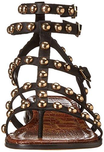 mujer Sam Eavan la Edelman gladiador sandalias Negro de xYBCwvqY