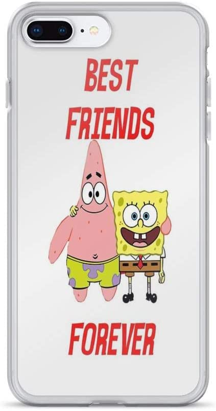 Amazon Com Iphone 7 Plus Iphone 8 Plus Case Cases Clear Anti Scratch Patrick Spongebob Best Friends Forever Patrick Cover Case For Iphone 7 Plus Iphone 8 Plus
