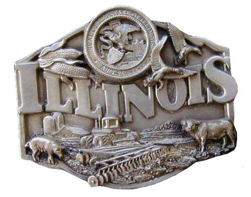 Illinois Buckle - Illinois Novelty Belt Buckle