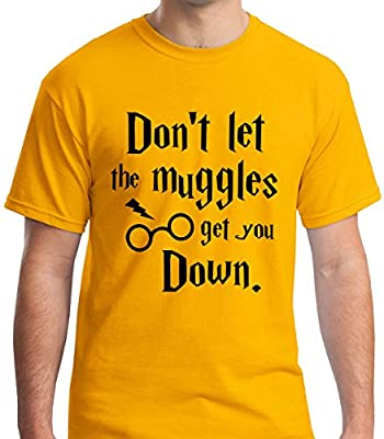 Raw T-Shirt's Don't Let Muggles Get You Down - Funny Harry Potter Premium Men's T-Shirt