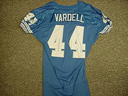 new concept 1ac6a 7cce4 Tommy Vardell Detroit Lions Blue Reebok Game Worn Jersey at ...