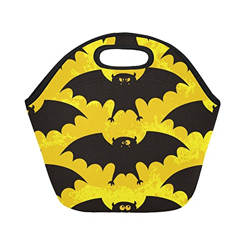 Custom Neoprene Halloween Funny Bats Lunch Bags Insulated