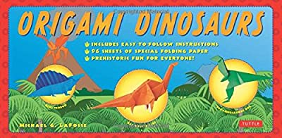 Origami Dinosaurs Kit: [Origami Kit with 2 Books, 98 Papers, 20 Projects]