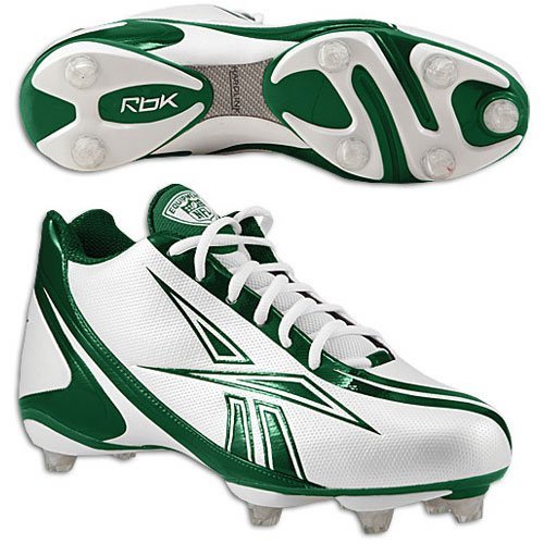 REEBOK NFL BURNER SPEED 5/8 SD3 MENS FOOTBALL CLEATS WHITE & BLACK White/Green jSLtuYEy2