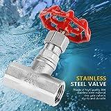 Akozon Stainless Steel Valve, Globe Valve DN15