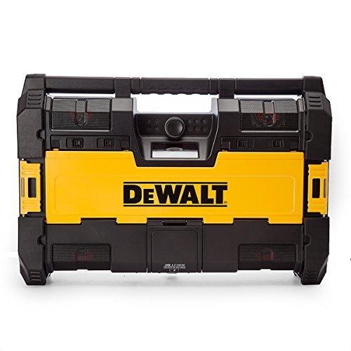 Black by DEWALT with 6 Speakers//Bluetooth and USB DEWALT DWST1-75663-GB Toughsystem Radio DAB