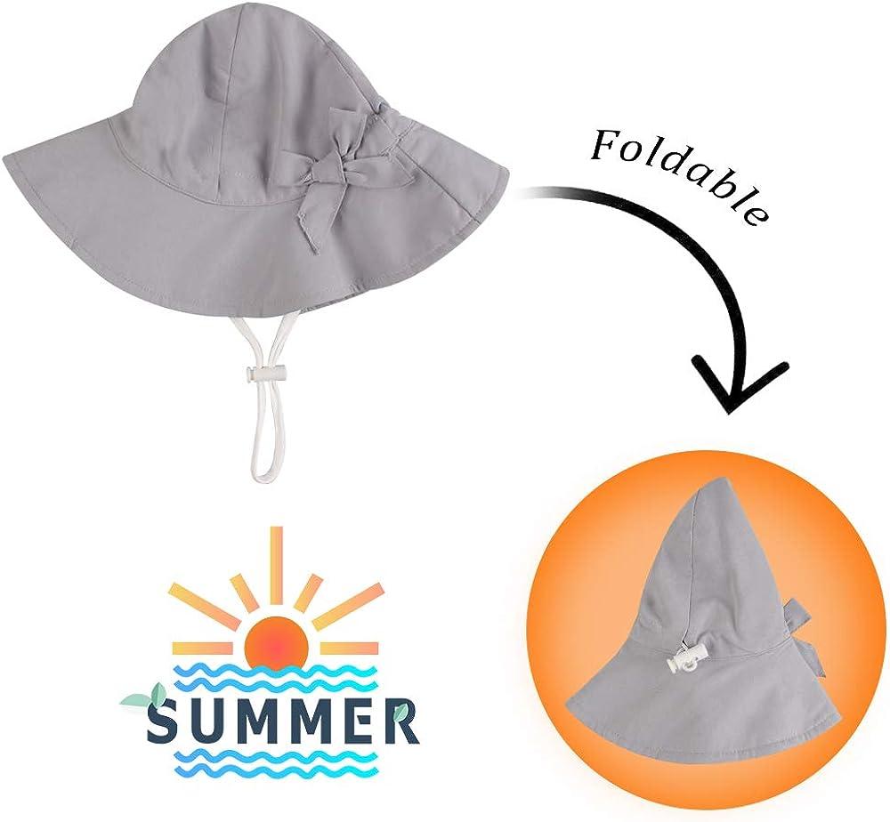 Baby Sun Hat Girls Floppy Bucket Hat Summer Toddler Outdoor Cap for Swim Beach