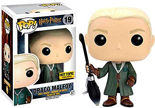Funko Pop Movies: Harry Potter - Quidditch Draco Malfoy Collectible Figure, Multicolor -