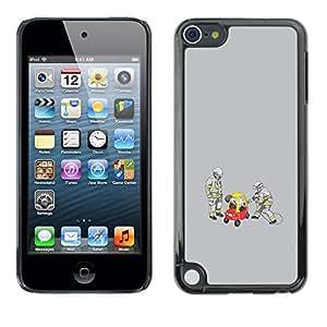 A-type Arte & diseño plástico duro Fundas Cover Cubre Hard Case Cover para Apple iPod Touch 5 (Divertido Conductor Borracho)