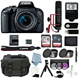 Canon EOS Rebel T7i Digital SLR Camera Video Creator Kit with EF-S 18-55mm IS STM Lens + DSLR Professional Accessory Bundle - Including EVERYTHING You Need To Get Started
