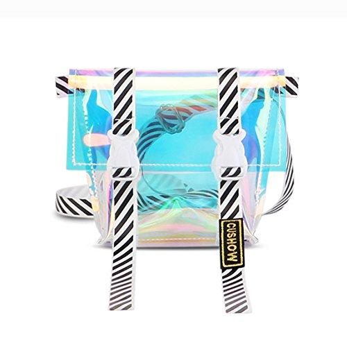 Transparent Coloré Sac Bandoulière Oblique Trapézoïdale Gelée Mode Mini Sac à Main pour Les Femmes