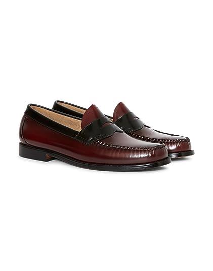 G.H. Bass - Mocasines para Hombre Rojo Vino, Color Rojo, Talla 45 EU: Amazon.es: Zapatos y complementos
