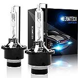 BEAMTECH D2S HID Bulbs, Xenon Headlight Replacement Bulb D2S D2R D2C 35W 6000K (Pack of 2)