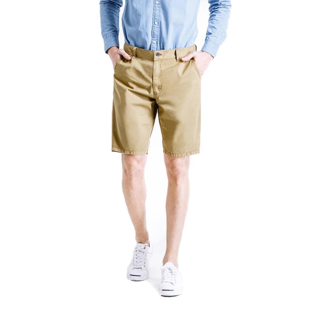 GREFER Men's Classic-Fit Quick-Dry Golf Short Pants Khaki